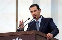 2020年8月12日,敘利亞總統巴沙爾·阿薩德在敘利亞大馬士革發表講話。圖片來源:新華社