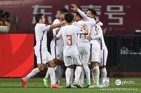 中国队庆祝进球。东方IC供图,请勿转载