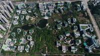 這是海南自由貿易港生態軟件園園區(無人機照片,5月31日攝)。