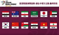 世預賽亞洲區最終階段十二支參賽球隊一覽。圖片來源:2023中國亞洲杯官方微博