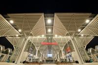 這是6月24日晚拍攝的國家會展中心(天津)一景。新華社記者 孫凡越 攝