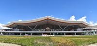 6月30日拍攝的拉薩貢嘎國際機場T3航站樓外景。