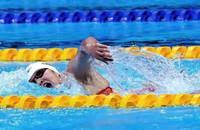 中国选手李冰洁在比赛中。人民日报报道团 王霞光摄