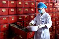 8月17日,郑州市中医院的药师在煎药中心内配药。新华社记者 李安 摄