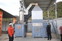 这是9月1日启用的扎毛村垃圾焚烧场内的焚烧炉。