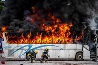 9月8日拍摄的汽车火灾调查协作展示现场。