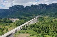 这是合龙后的捞村双线特大桥(无人机照片,9月16日摄)。