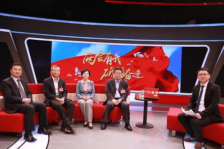 赵剡水代表、孙明波代表、徐晓兰委员、訚军做客人民网谈人工智能助推中国智造