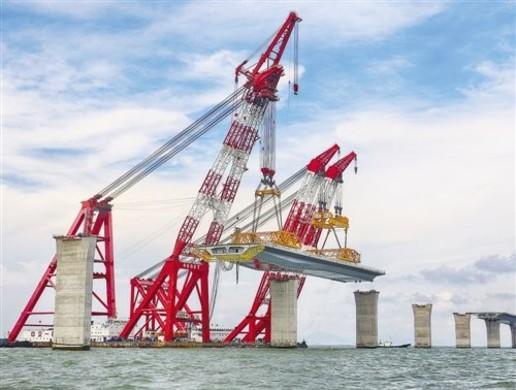 港珠澳大桥全线贯通在即