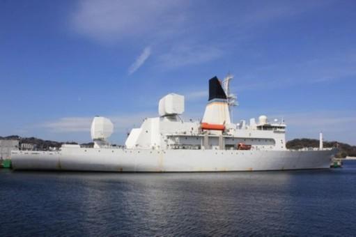 美国最先进导弹测量船进驻韩国
