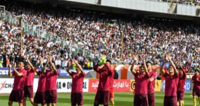 中国男足客场0-1负伊朗 现场高清图回顾