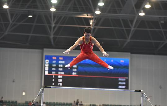 【聚焦全运会】体操男子团体项目 贵州夺金!