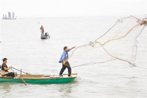 太湖开捕 渔民迎来丰收的喜悦