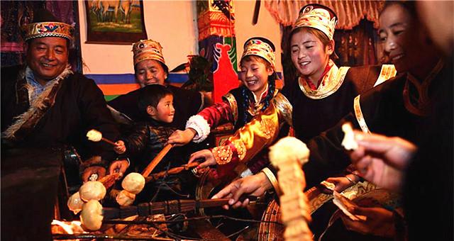 西藏工布地区 喜迎工布新年