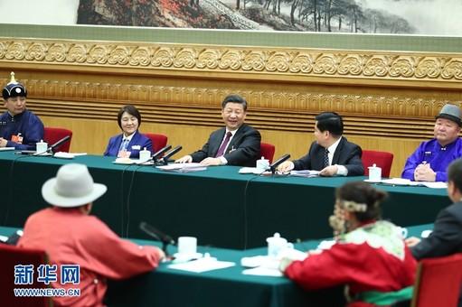 习近平参加内蒙古代表团的审议