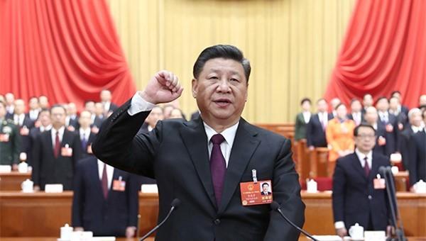 习近平主席进行宪法宣誓