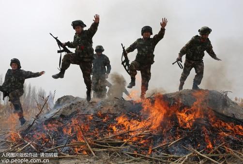 新疆库尔勒:丛林练兵磨砺打赢硬功