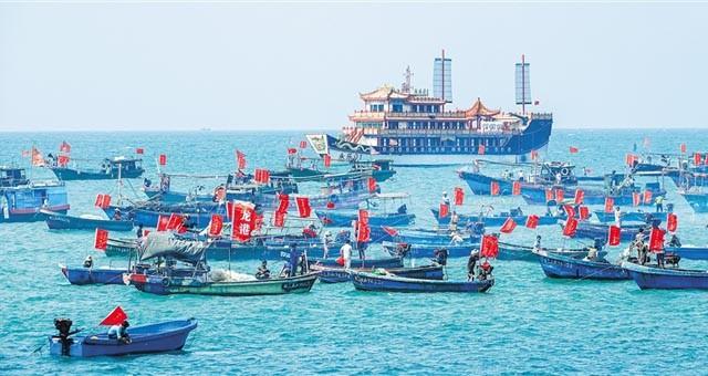 海口三亚举办民俗庆典活动 引众多市民游客参与
