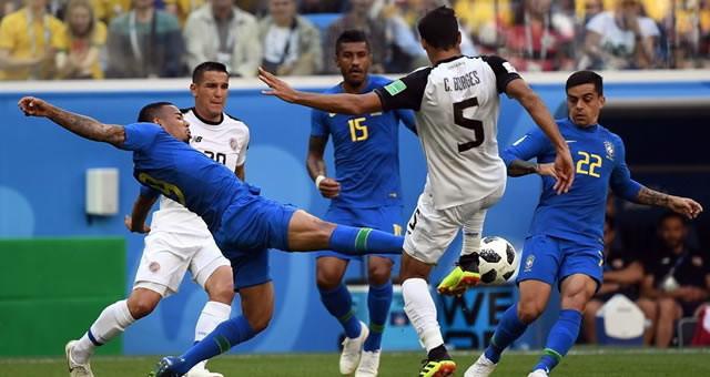 库蒂尼奥、内马尔破门 巴西2-0哥斯达黎加