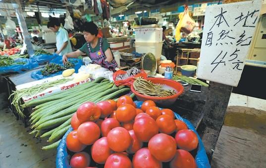 持续高温 南京部分菜价上涨百分之二十左右