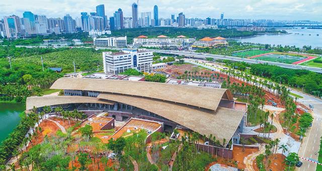 海口市民游客中心项目基本完工