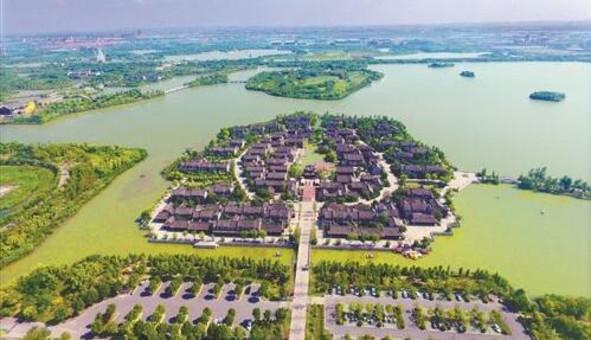 航拍徐州潘安湖:采煤塌陷区 变身大花园