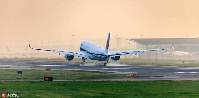 中国内地首架空中客车A350客机完成交付