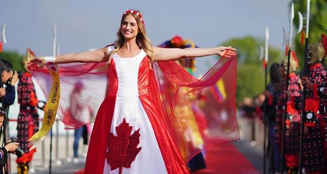 2018世界旅游小姐入城仪式在汉中举行