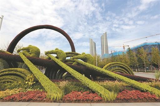 国庆将至五组全新立体花坛扮靓南京
