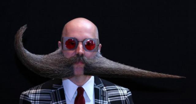 世界胡子锦标赛 奇葩造型令人捧腹