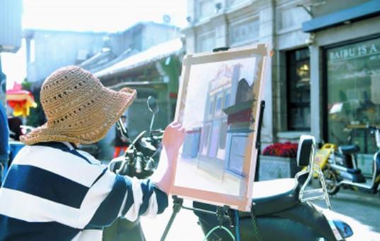 画笔描摹老巷新生