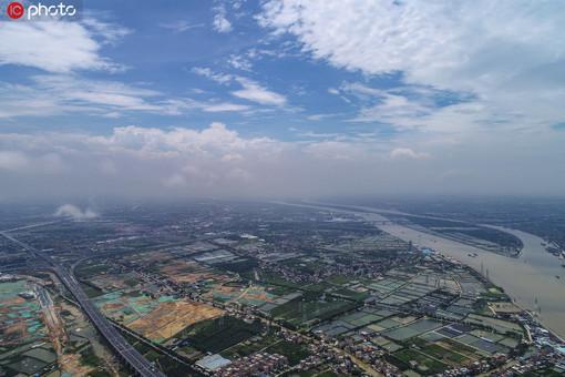 航拍广州南沙明珠湾