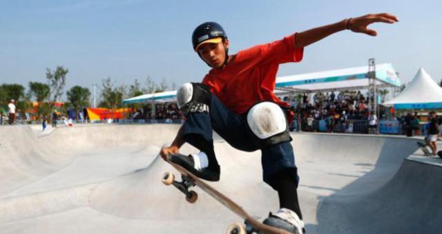 中国极限运动大会滑板比赛举行
