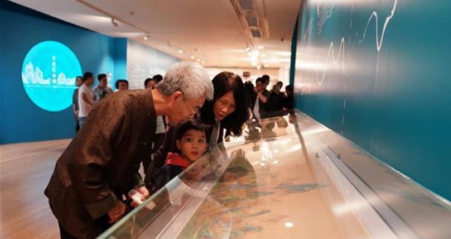《千里江山图》数字长卷在澳门展出