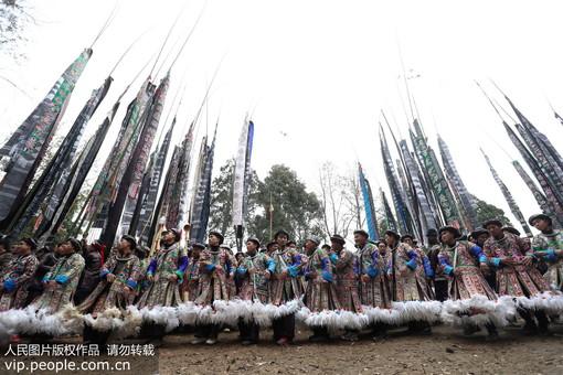 贵州榕江:苗寨欢庆鼓藏节