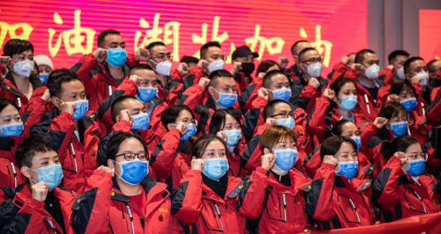 贵州第六批支援湖北医疗队出征
