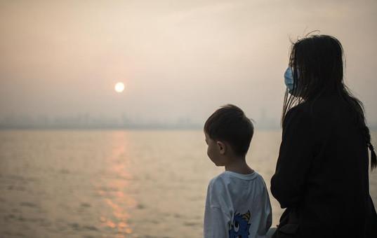 武汉东湖:夕阳无限好
