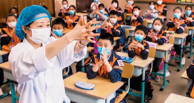 天津:63万名中小学生复课 安全有序