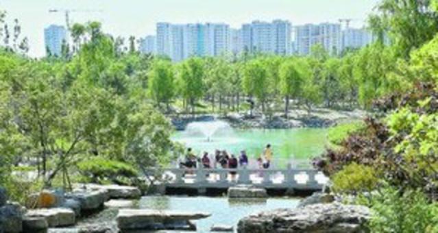 村民出家门就能逛公园