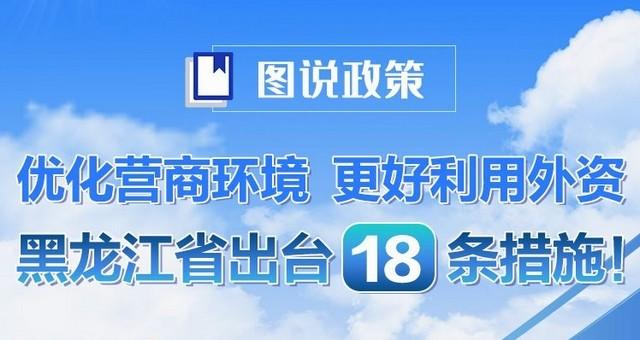 进一步利用外资,黑龙江出台18条措施!