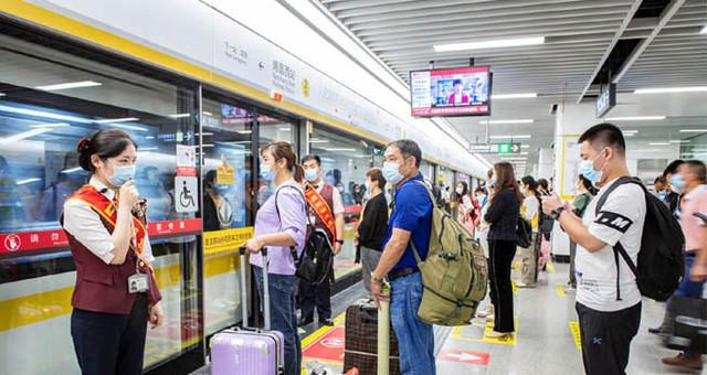 """南昌地铁""""双节""""运客401万人次"""