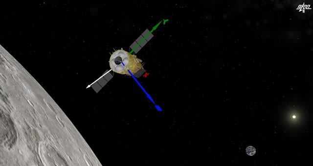 """嫦娥五号再度""""踩刹车"""" 进入环月轨道飞行"""