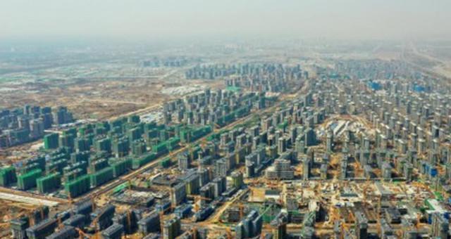 河北雄安新区容东片区建设施工正酣