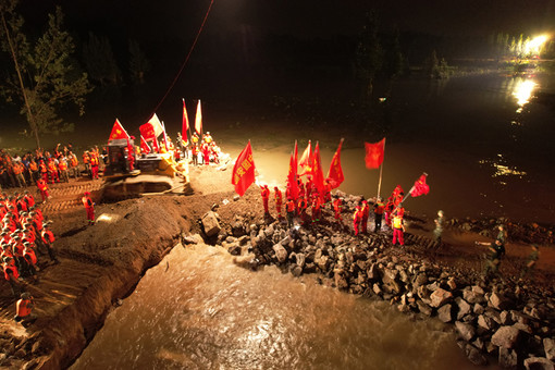 河南防汛救灾一线共产党员群像