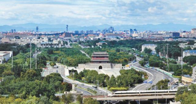北京中轴线绿意盎然