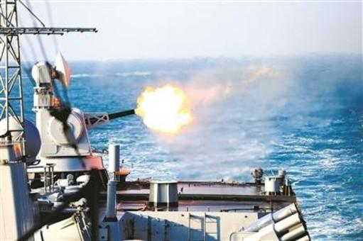 东海舰队实战化训练:弹幕摧毁新型高速靶机