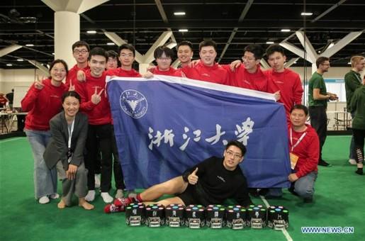 浙江大学斩获机器人足球世界杯冠军