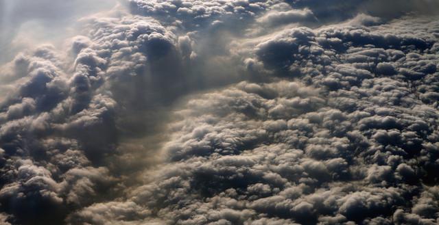 飞越北京到广州 空中看中国空气污染