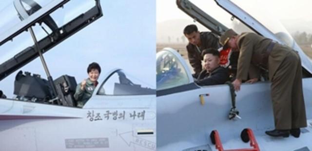 金正恩朴槿惠同天视察战机 引发韩媒比较