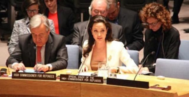 安吉丽娜·朱莉参加联合国会议